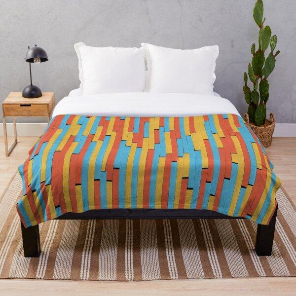 Paper Stripes - Color variation 1  Throw Blanket