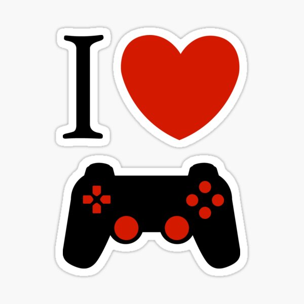 I Love Video Games T-shirts and More Sticker