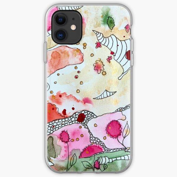 Magical Garden Doodle iPhone Soft Case