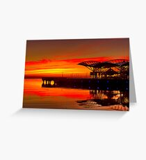 """""""Sunrise At The Carousel"""" Greeting Card"""