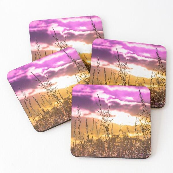 Plante ciel coloré, paysage et couleur Dessous de verre (lot de 4)