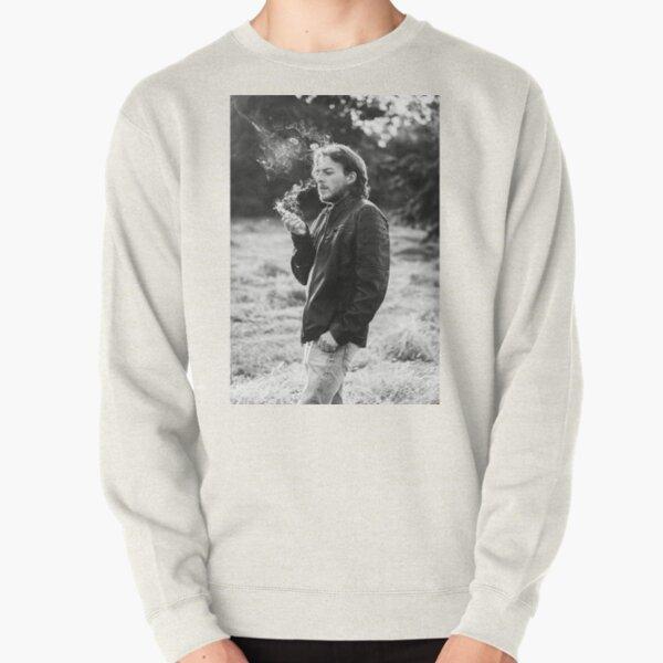 Male model smoking in nature #1 Pullover Sweatshirt