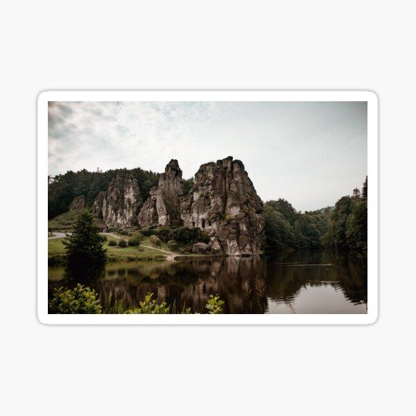 Grob aussehende Externsteine im Teutoburger Wald Sticker