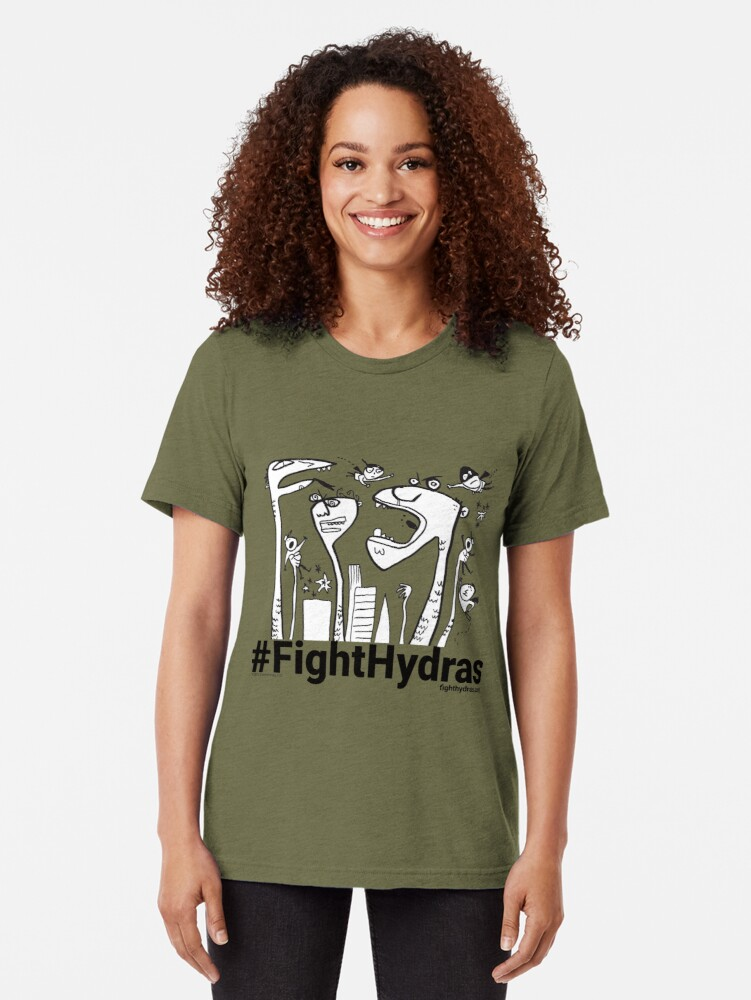 Alternate view of Fight Back! Tri-blend T-Shirt