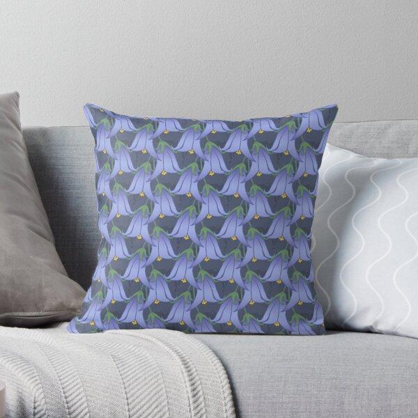 Purple Flower Pattern Throw Pillow
