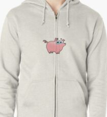 pig, animal farm Zipped Hoodie