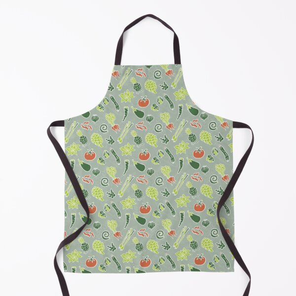 Very Veggy Lime, Dark Green and Red Apron