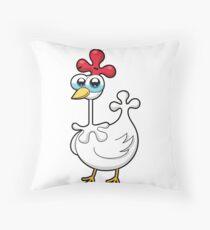 chicken, animal farm Throw Pillow
