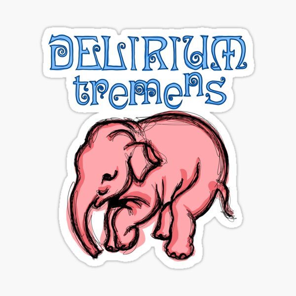Delirium Pink Elephant POP Sticker