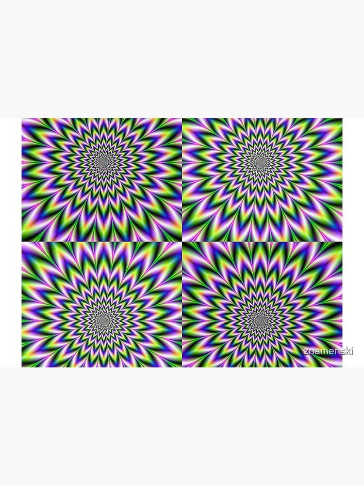 Psychedelic, Optical art, Op art, Vibration, Trippy Posters by znamenski