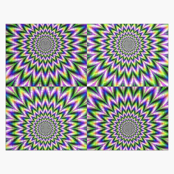 Psychedelic, Optical art, Op art, Vibration, Trippy Posters Jigsaw Puzzle