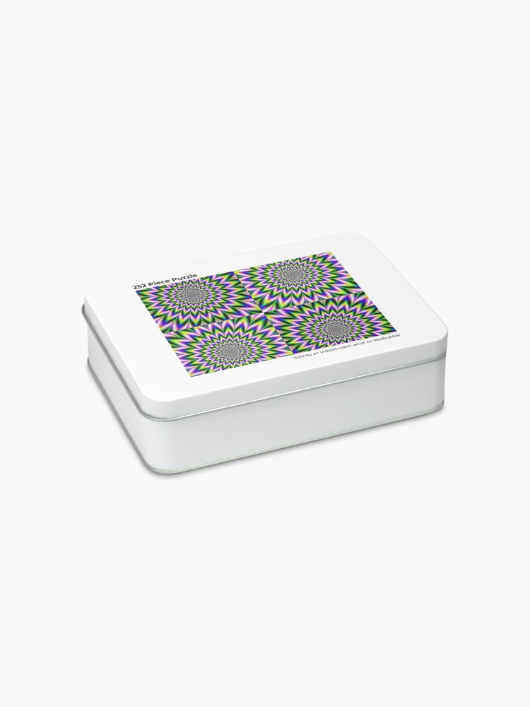 Alternate view of Psychedelic, Optical art, Op art, Vibration, Trippy Posters Jigsaw Puzzle