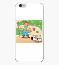 farmer and dog, animal farm iPhone Case