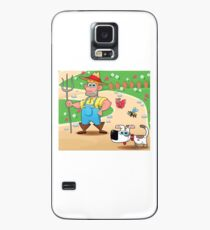 farmer and dog, animal farm Case/Skin for Samsung Galaxy