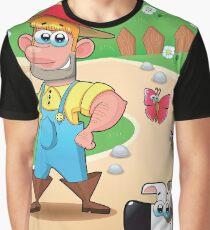 farmer and dog, animal farm Graphic T-Shirt