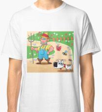 farmer and dog, animal farm Classic T-Shirt