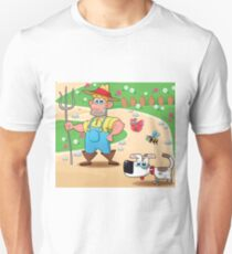 farmer and dog, animal farm Unisex T-Shirt