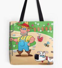 farmer and dog, animal farm Tote Bag