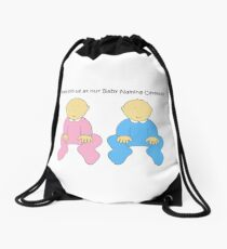 Baby Naming Ceremony Invitation for twins. Drawstring Bag