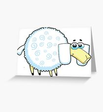 sheep, animal farm Greeting Card