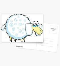 sheep, animal farm Postcards