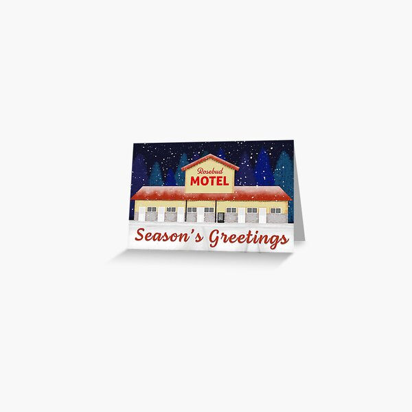 Motel Christmas Greeting Card