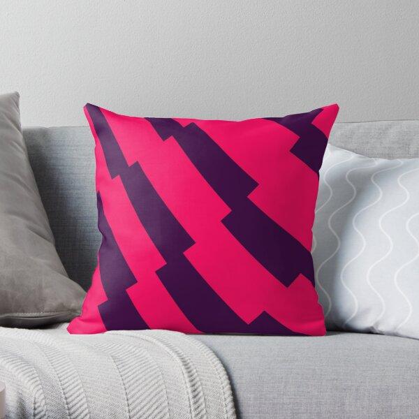 EPL Pink Purple Pattern Throw Pillow