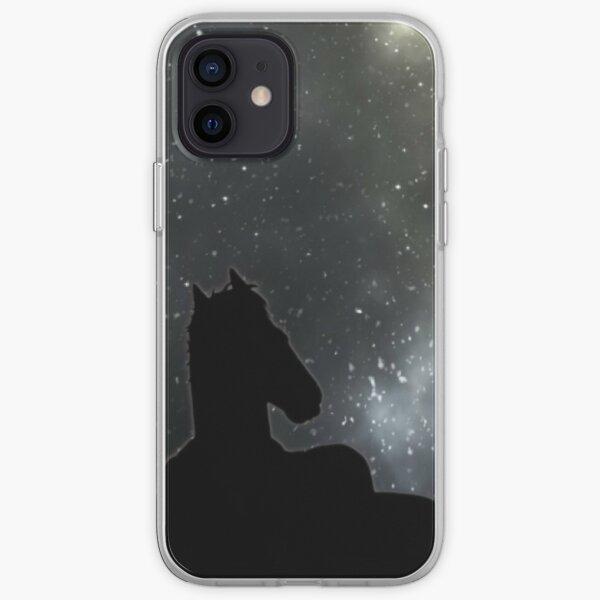 Horseman starry night iPhone Soft Case