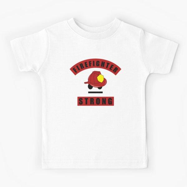 Firefighter Strong Proud Firefighter Hero Kids T-Shirt