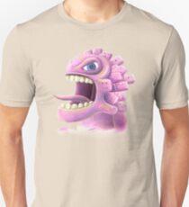 Funny monster lizard dragon rose Unisex T-Shirt