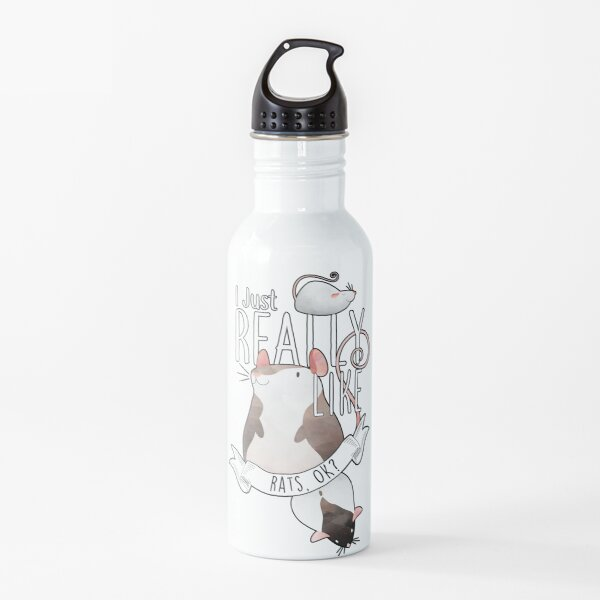 I Just Really Like Rats, OK? Water Bottle