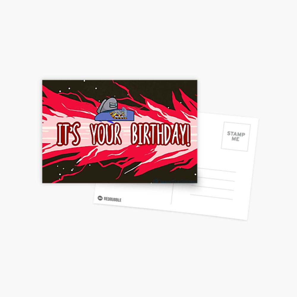 Among Us Birthday Postcard By Janetthecoolmom Redbubble
