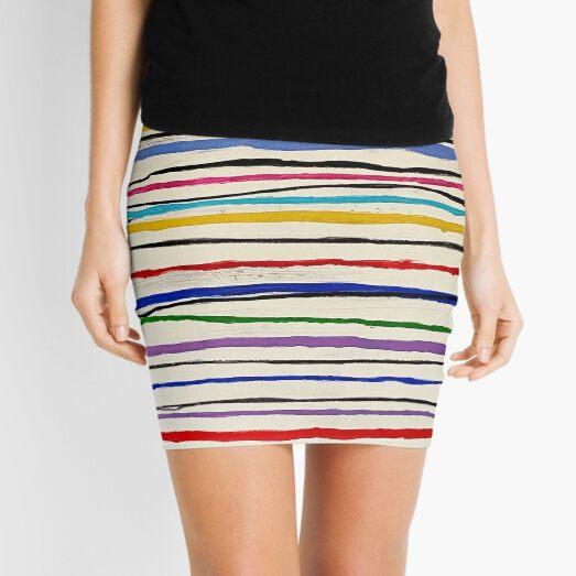 Vertical Autobiography Detail Mini Skirt