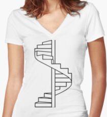 Where do you go? Women's Fitted V-Neck T-Shirt