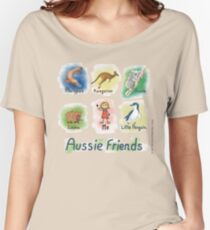 Me and My Aussie Friends - Girl Women's Relaxed Fit T-Shirt