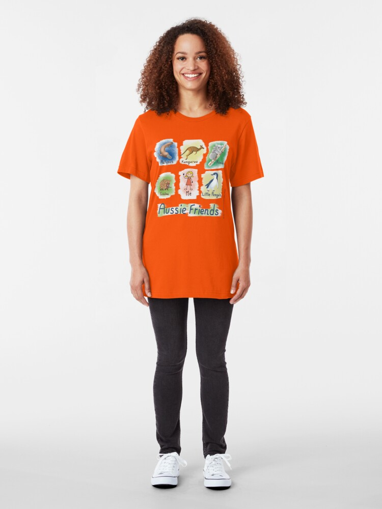 Alternate view of Me and My Aussie Friends - Girl Slim Fit T-Shirt