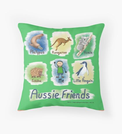Me and My Aussie Friends - Boy Throw Pillow