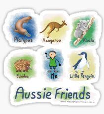 Me and My Aussie Friends - Boy Sticker