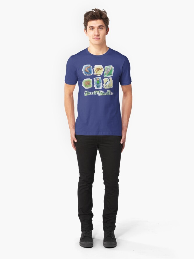 Alternate view of      Me and My Aussie Friends - Boy Slim Fit T-Shirt