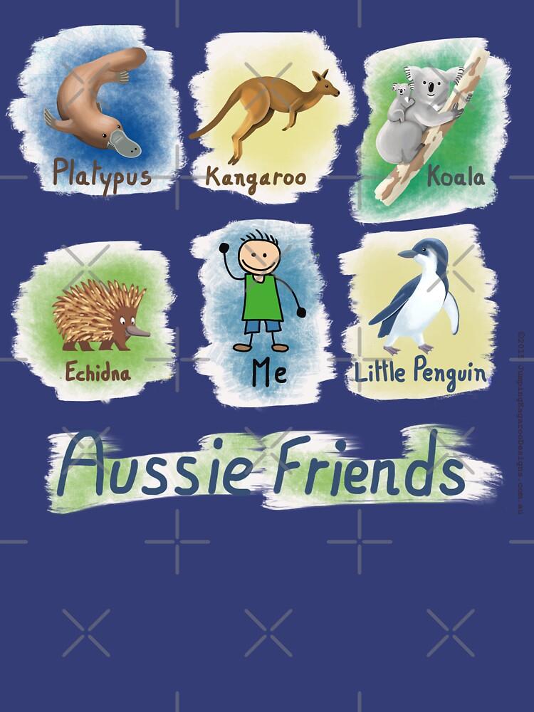 Me and My Aussie Friends - Boy by JumpingKangaroo