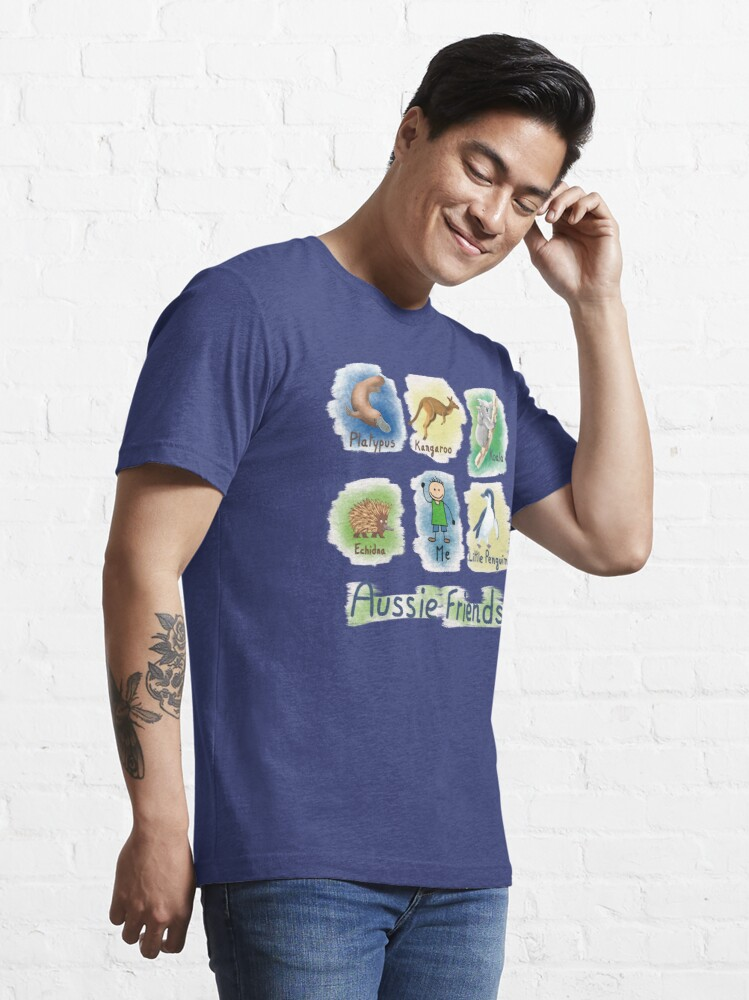 Alternate view of      Me and My Aussie Friends - Boy Essential T-Shirt