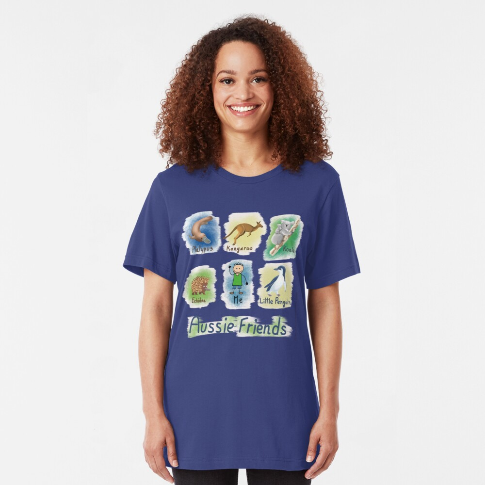 Me and My Aussie Friends - Boy Slim Fit T-Shirt
