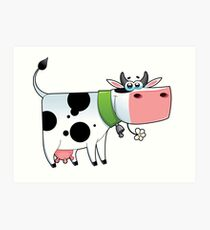 cow animal farm for kid Art Print