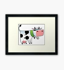 cow animal farm for kid Framed Print