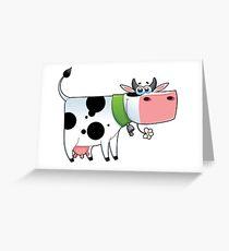 cow animal farm for kid Greeting Card