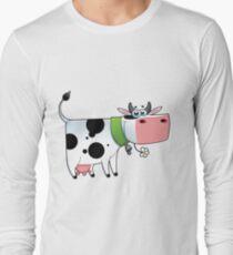 cow animal farm for kid Long Sleeve T-Shirt