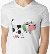 cow animal farm for kid Men's V-Neck T-Shirt