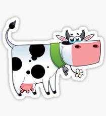 cow animal farm for kid Sticker