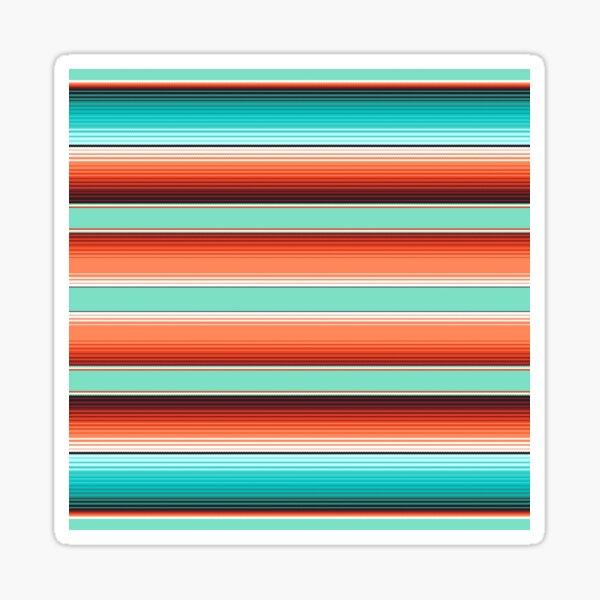 Teal Turquoise and Burnt Orange Southwest Serape Blanket Stripes Sticker