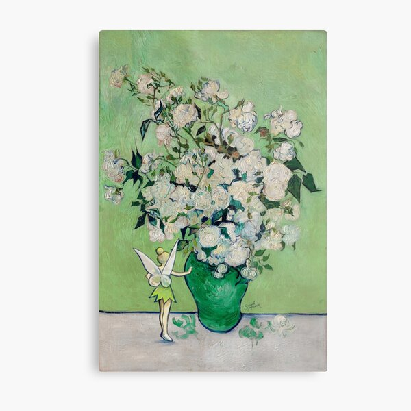 Tinkerbell and the Flower Vase Metal Print